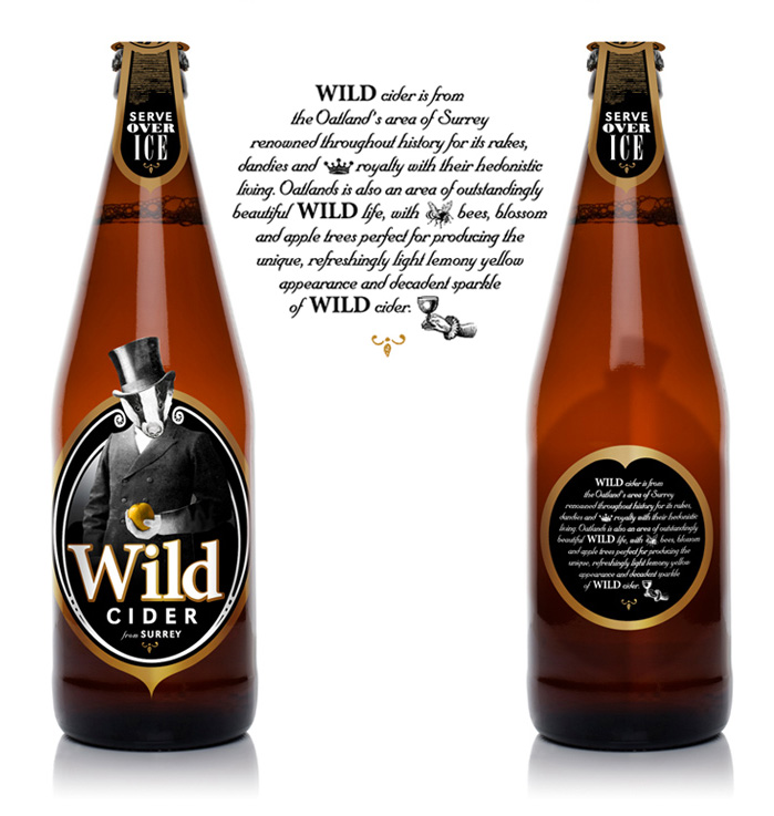 graphic design for alcohol label