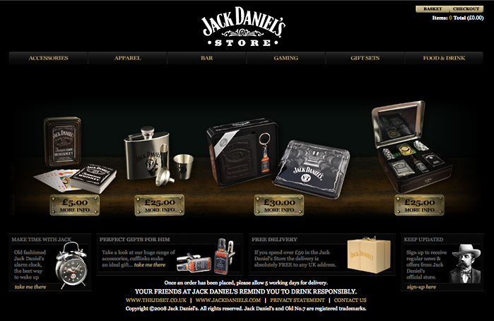 jack daniel s online store mine graphic design. Black Bedroom Furniture Sets. Home Design Ideas